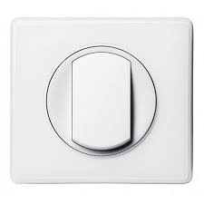Double interrupteur complet Celiane Blanc